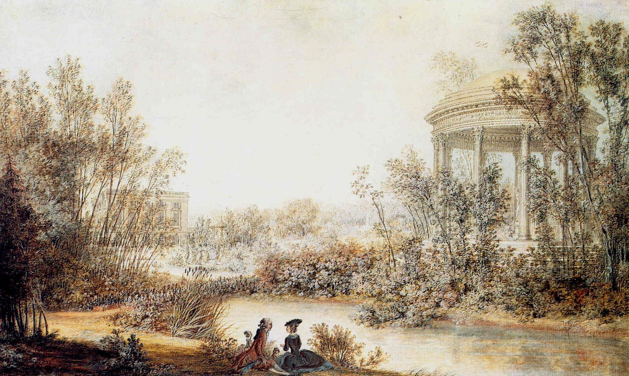 1774 xviiie si cle au cours des si cles versailles 3d for Jardin anglais du petit trianon
