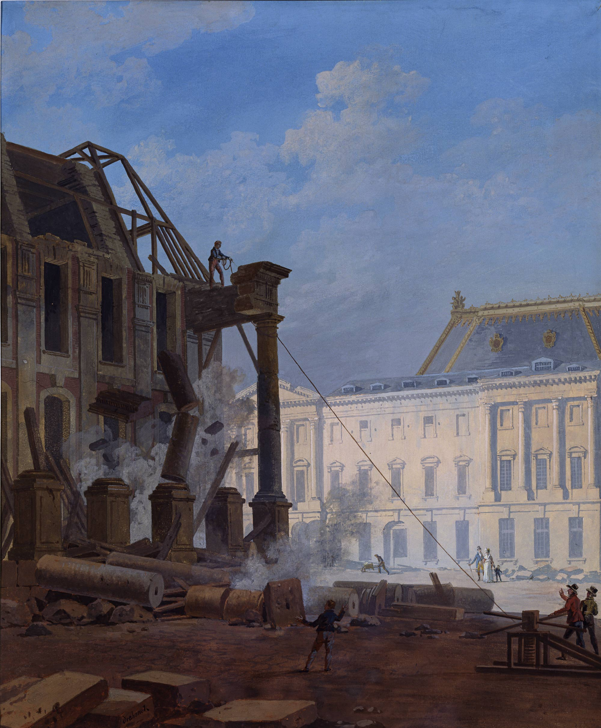 1821 xixe si cle au cours des si cles versailles 3d for Architecte de versailles sous louis xiv