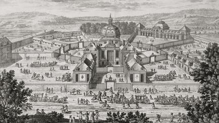The Menagerie, entrance view, Adam Perelle (1638-1695), Versailles, châteaux de Versailles et de Trianon © RMN (Château de Versailles) / Gérard Blot
