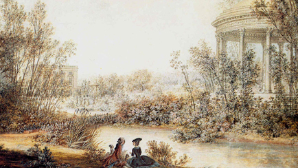 View of Cupid's Temple in the English garden of the Petit Trianon, Louis Nicolas de Lespinasse (1734-1808), 1780, Versailles, chteaux de Versailles et de Trianon  RMN (Chteau de Versailles) / Grard Blot