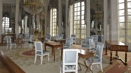 Vista actual del salón de Madame Mère en el Gran Trianón, Versalles, palacios de Versalles y Trianón © EPV/ Christian Milet