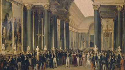 Louis-Philippe receiving the diplomatic corps in the Battles Gallery during the inauguration of the Museum of Versailles on 10 June 1837, François Joseph Heim (1787-1865), Versailles, châteaux de Versailles et de Trianon © RMN (Château de Versailles) / All rights reserved