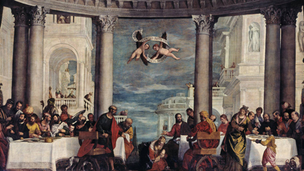 La Comida en casa de Simón Fariseo, Caliari Paolo Veronés (1528-1588), 1570, Versalles, palacios de Versalles y Trianón © RMN (Palacio de Versalles) / Gérard Blot