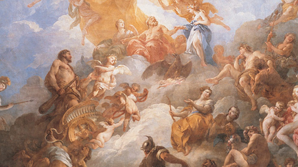 Ceiling of the Hercules Salon: ''The Apotheosis of Hercules'', François Lemoyne (1688-1737), 1731-1736, Versailles, châteaux de Versailles et de Trianon © RMN (Château de Versailles) / Gérard Blot / Hervé Lewandowski