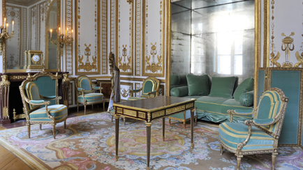 Present-day view of the Cabinet Doré in the interior apartment of the Queen, 2011, Versailles, châteaux de Versailles et de Trianon © EPV/ Christian Milet
