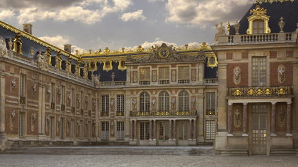 Present-day view of the Marble Courtyard, 2010, Versailles, chteaux de Versailles et de Trianon  EPV/Jean-Marc Mana