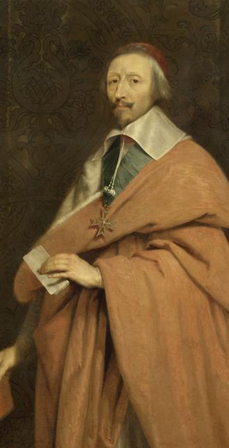 Armand-Jean du Plessis, cardenal de Richelieu (1585-1642), taller de Philippe de Champaigne (1602-1674), hacia 1639, Versalles, palacios de Versalles y Trianón © RMN (Palacio de Versalles) / Gérard Blot