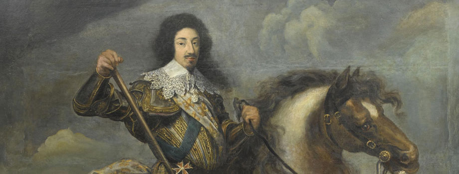 Equestrian portrait of Louis XIII, king of France (1601-1643), attributed to Claude Deruet (1588-1660), Versailles, chteaux de Versailles et de Trianon  RMN (Chteau de Versailles) / Grard Blot