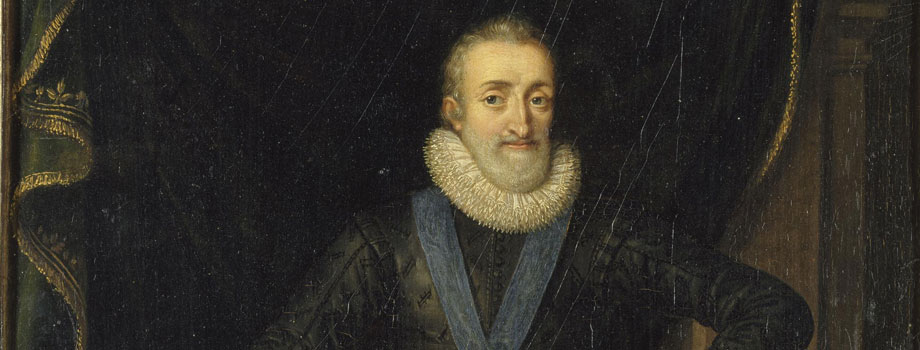 Henri IV, king of France and Navarre (1553-1610) in 1610, Frans Pourbus, the Younger (1569-1622), Versailles, châteaux de Versailles et de Trianon © RMN (Château de Versailles) / Gérard Blot