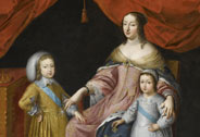 Anne of Austria, Regent, Louis XIV and Philippe de France, Duc d'Anjou, anonymous, 17th century, Versailles, châteaux de Versailles et de Trianon © RMN (Château de Versailles) / Gérard Blot