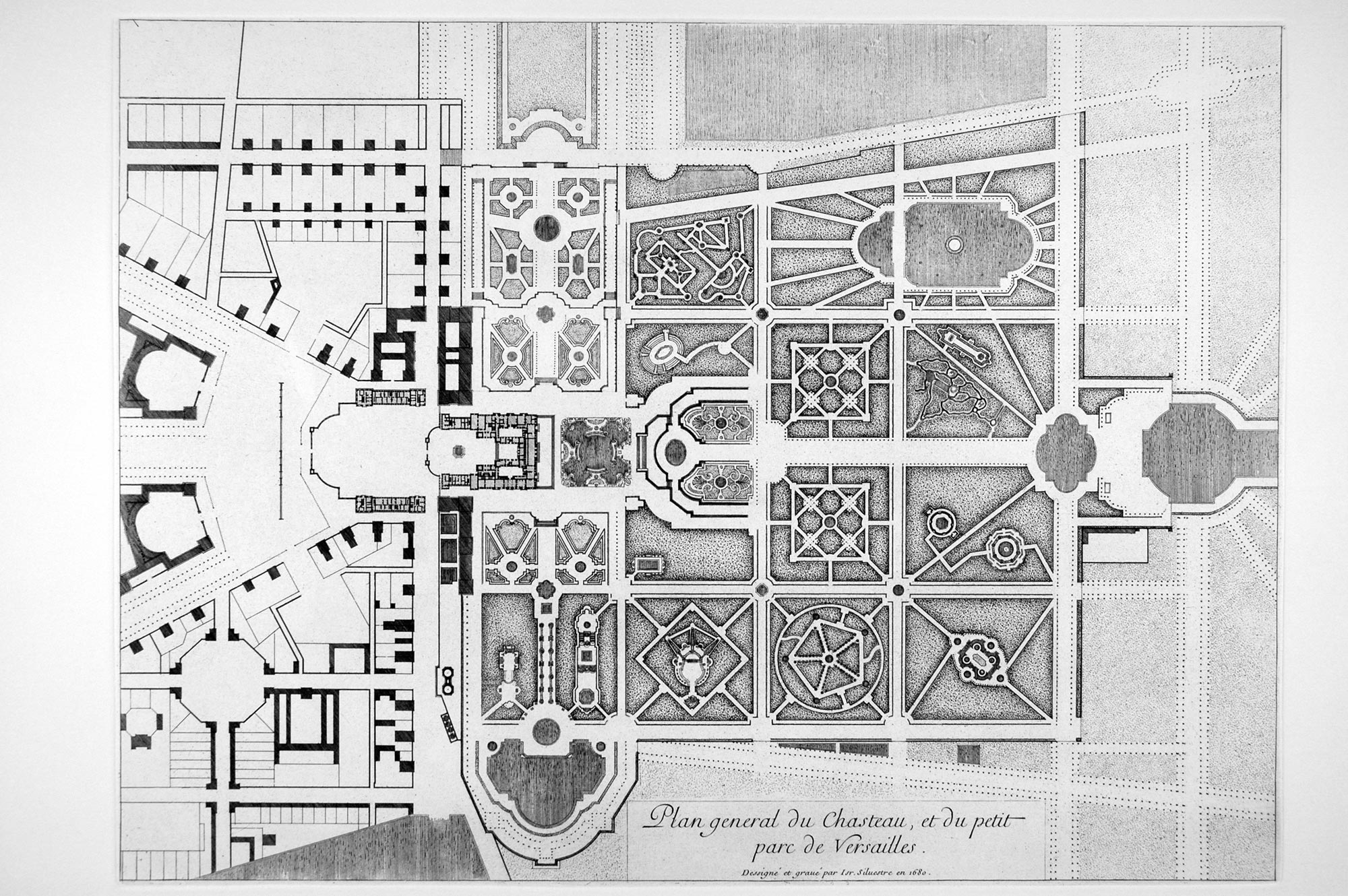 General Plan Of The Palace And Park Of Versailles In 1680, Israël Silvestre  (1621
