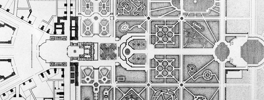 General plan of the palace and park of Versailles in 1680,  Israël Silvestre (1621-1691), 1680,  Versailles, châteaux de Versailles et de Trianon © EPV/ Jean-Marc Manaï