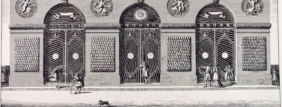 View of the outer façade of the Thetys Grotto of Versailles, Jean Le Pautre (1618-1682), 1672, Versailles, châteaux de Versailles et de Trianon © EPV/ Jean-Marc Manaï