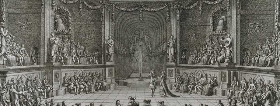 The Grand Royal Entertainment given by Louis XIV in Versailles on 18 July 1668, Jean Le Pautre (1618-1682), Versailles, châteaux de Versailles et de Trianon © RMN (Château de Versailles) / Gérard Blot