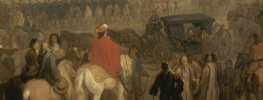 Louis XIV recevant la reddition de la citadelle de Cambrai le 18 avril 1677. Dom Pedro Zaval se rend  Louis XIV vers 1678-1679, Frans Van der Meulen, Versailles, chteaux de Versailles et de Trianon  RMN (Chteau de Versailles) / Grard Blot