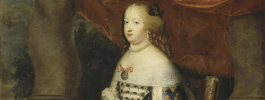 Full-length portrait of queen Maria Theresa, Infanta of Spain, in grand royal costume (1638-1683), Charles Beaubrun (1604-1692), Henri Beaubrun (1603-1677), Versailles, chteaux de Versailles et de Trianon  RMN (Chteau de Versailles) / Herv Lewandowski