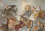 The Triumph of Saturn on his chariot pulled by dragons. Sketch for the ceiling of the Saturn Cabinet in Versailles, Noël Coypel (1628-1707), 1672, Versailles, châteaux de Versailles et de Trianon © EPV/ Jean-Marc Manaï