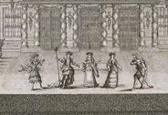 Festivity given by Louis XIV to celebrate the conquest of Franche-Comt at Versailles in 1674. First day, Wednesday 7 July: performance of the opera by Quinault 