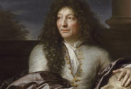 Franois Girardon, sculpteur (1628-1715), recteur de l'Acadmie royale de Peinture et de Sculpture- appuy sur une tte en marbre de Jules Csar faisant partie de ses collections, Gabriel Revel (1642-1712), Versailles, chteaux de Versailles et de Trianon  RMN (Chteau de Versailles) / Grard Blot