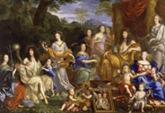 The family of Louis XIV in 1670 depicted in mythological fancy dress, Jean Nocret (1617-1672), 1670, Versailles, chteaux de Versailles et de Trianon  RMN (Chteau de Versailles) / All rights reserved