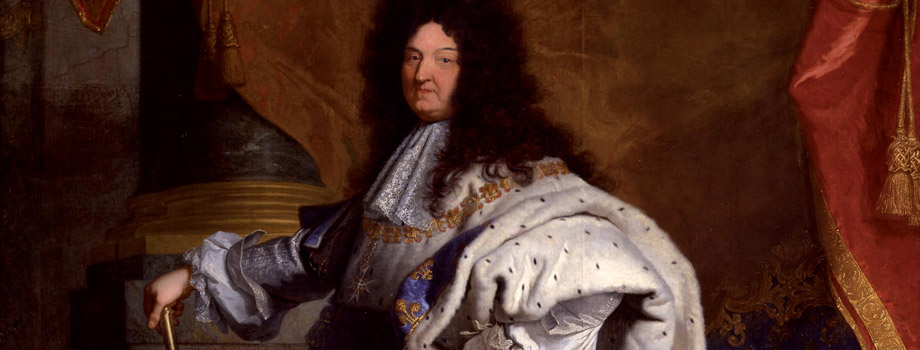 Full-length portrait of Louis XIV aged 63 in full royal costume (1638-1715), Hyacinthe Rigaud (1659-1743), 1702, Versailles, chteaux de Versailles et de Trianon  EPV/ Jean-Marc Mana