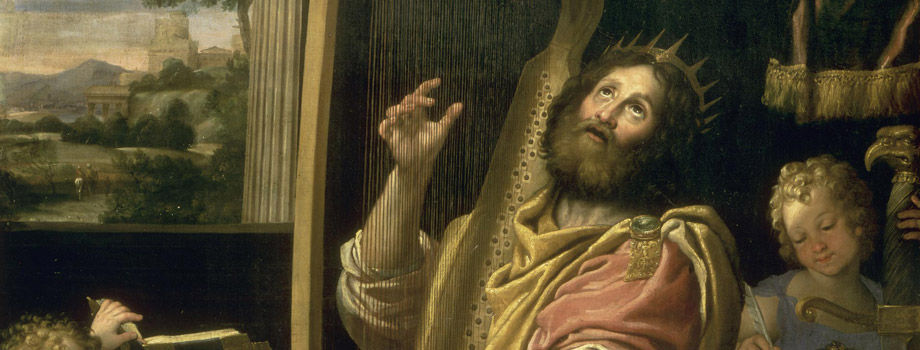 King David Playing the Harp, Domenico Zampieri (1581-1641), Versailles, chteaux de Versailles et de Trianon  RMN (Chteau de Versailles) / Daniel Arnaudet