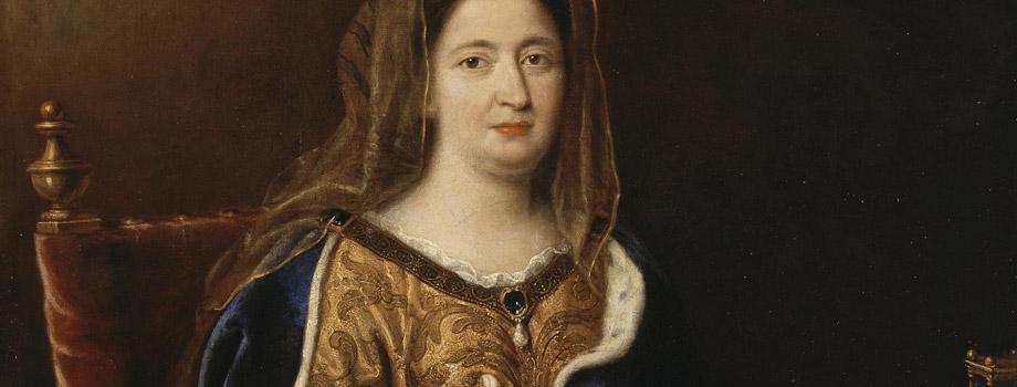 Françoise d'Aubigné (1635-1719), marquise de Maintenon, représentée en sainte Françoise romaine, Pierre Mignard (1612-1695), vers 1694, Versailles, châteaux de Versailles et de Trianon © RMN (Château de Versailles) / Daniel Arnaudet / Gérard Blot