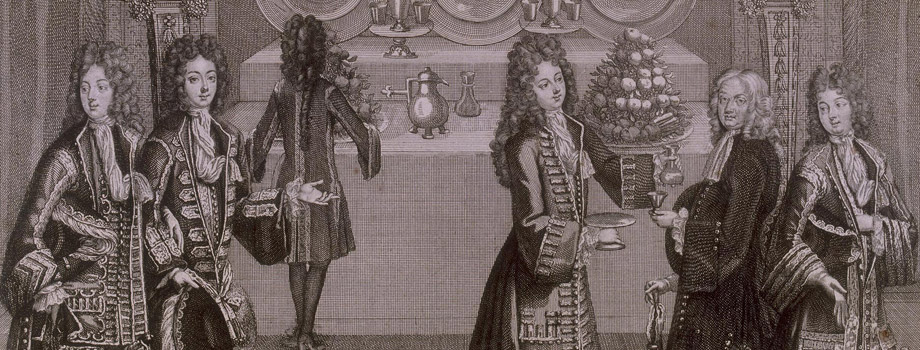 Buffet servido para la colación con motivo de las veladas de apartamento en Versalles, Antoine Trouvain (1656-1708), 1696, Versalles, palacios de Versalles y Trianón © RMN (Palacio de Versalles) / Gérard Blot