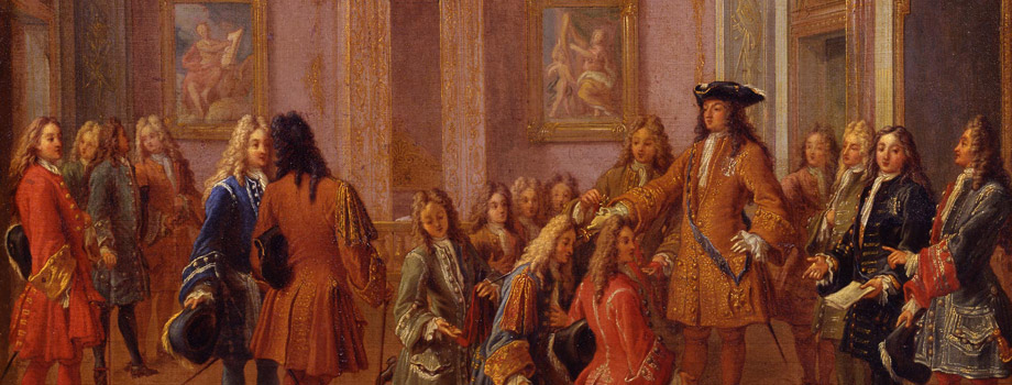 Première promotion des chevaliers de l'ordre de Saint-Louis par Louis XIV à Versailles le 8 mai 1693, François Marot (1666-1719), Versailles, châteaux de Versailles et de Trianon © RMN (Château de Versailles) / Gérard Blot