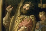 Le Roi David jouant de la harpe, Domenico  Zampieri, dit Le Dominiquin (1581-1641), Versailles, châteaux de Versailles et de Trianon © RMN (Château de Versailles) / Daniel Arnaudet