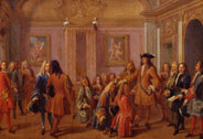 Premire promotion des chevaliers de l'ordre de Saint-Louis par Louis XIV  Versailles le 8 mai 1693, Franois Marot (1666-1719), Versailles, chteaux de Versailles et de Trianon  RMN (Chteau de Versailles) / Grard Blot