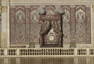 Scale model of the bedchamber of Louis XIV in Versailles, executed circa 1960, Charles Arquinet (20th century) model maker; French, Versailles, chteaux de Versailles et de Trianon  RMN (Chteau de Versailles) / Grard Blot