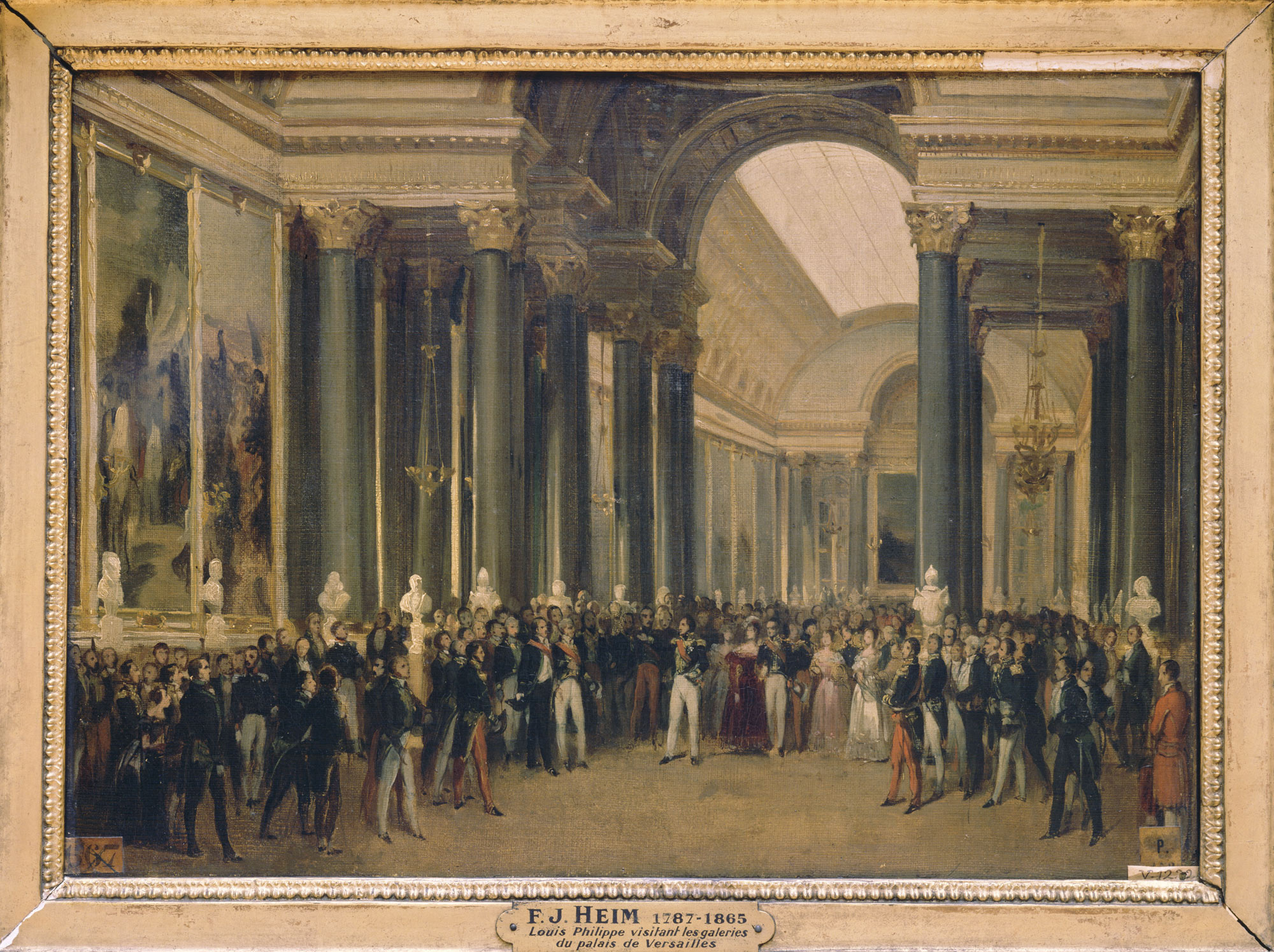 Louis-Philippe receiving the diplomatic corps in the Battles Gallery during  the inauguration of the