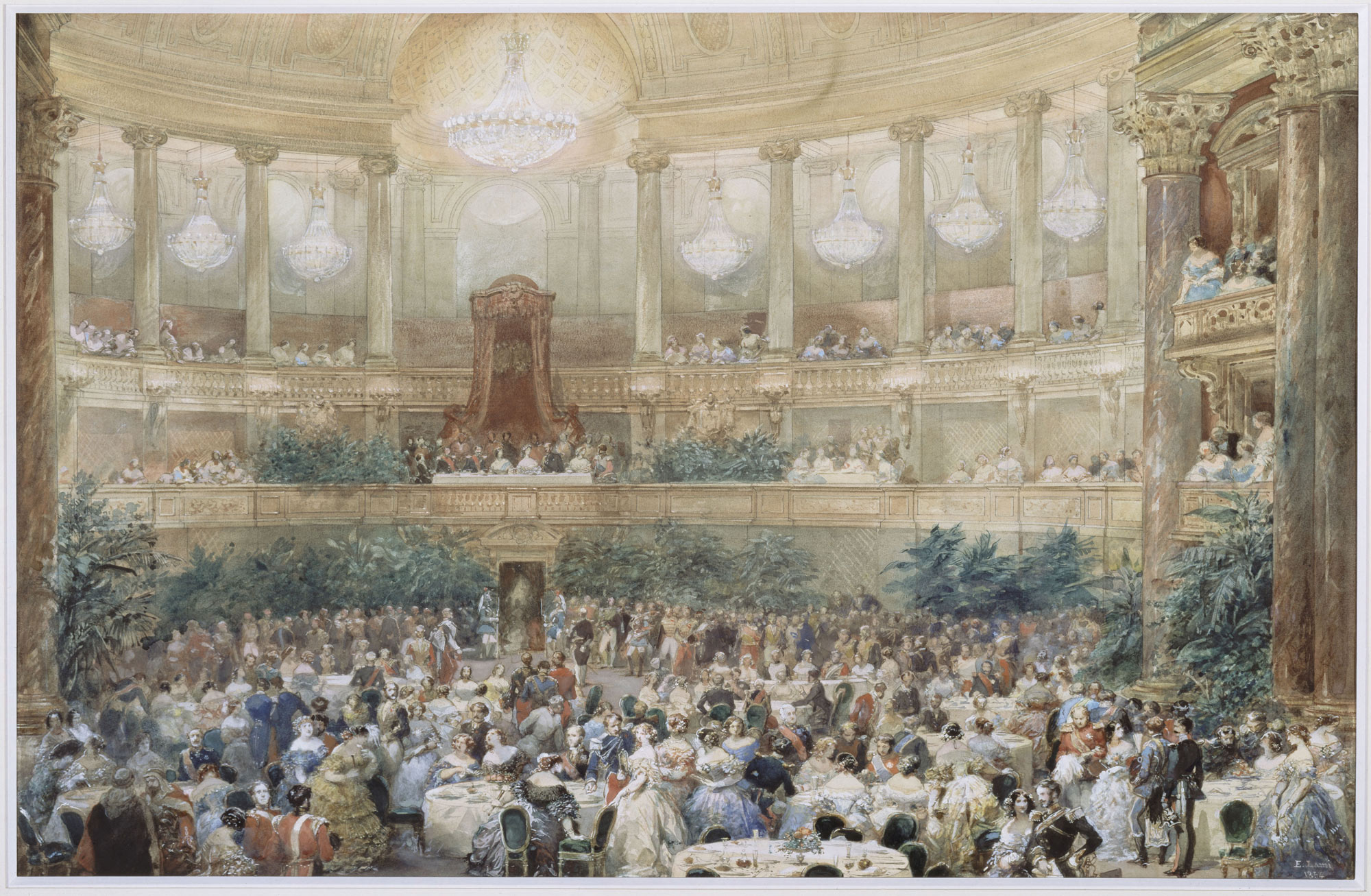 Visit of Queen Victoria to Paris in 1855, the supper offered by Napoleon  III to