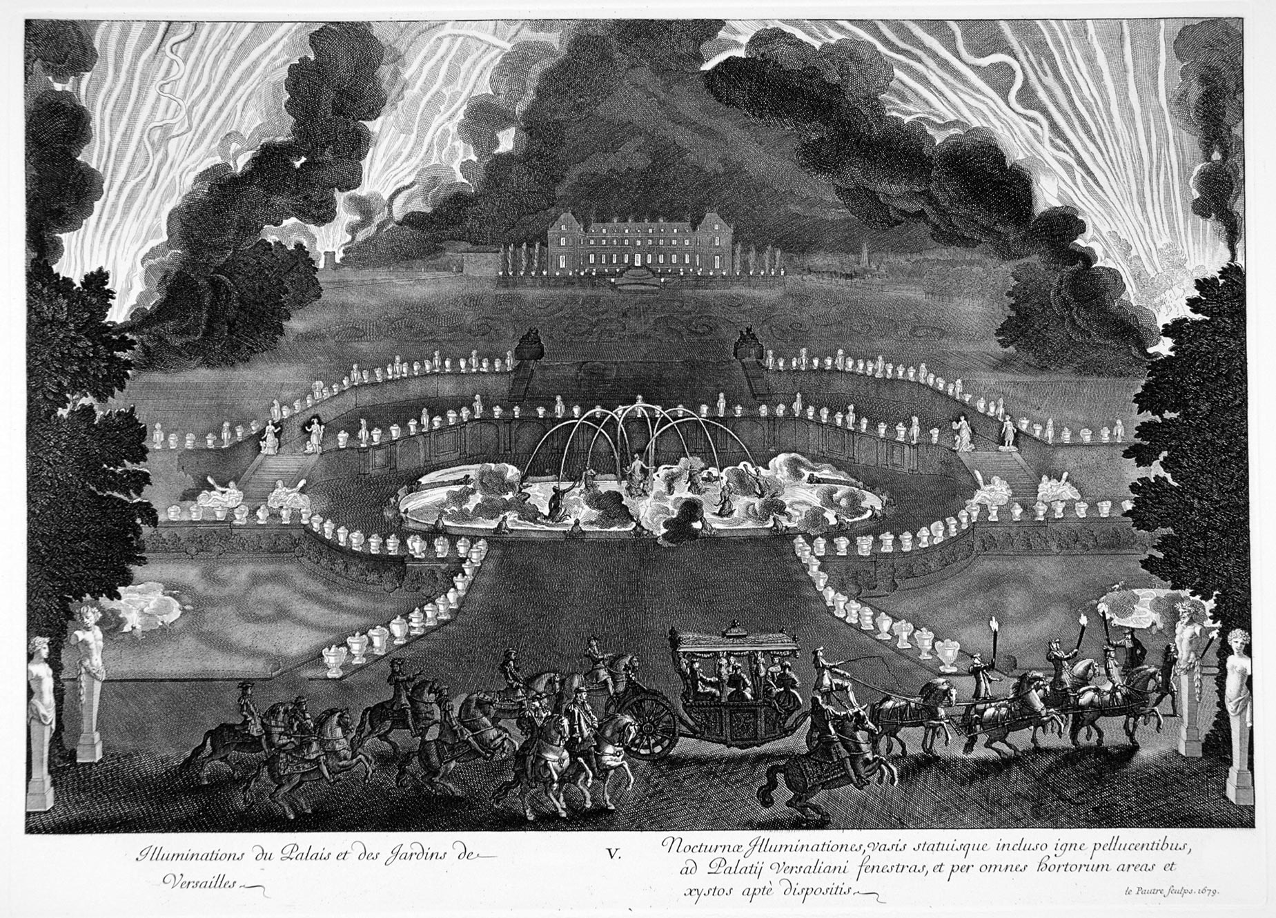 The Grand Royal Entertainment, 18 July 1668. IIllumination of the Palace  and Gardens of