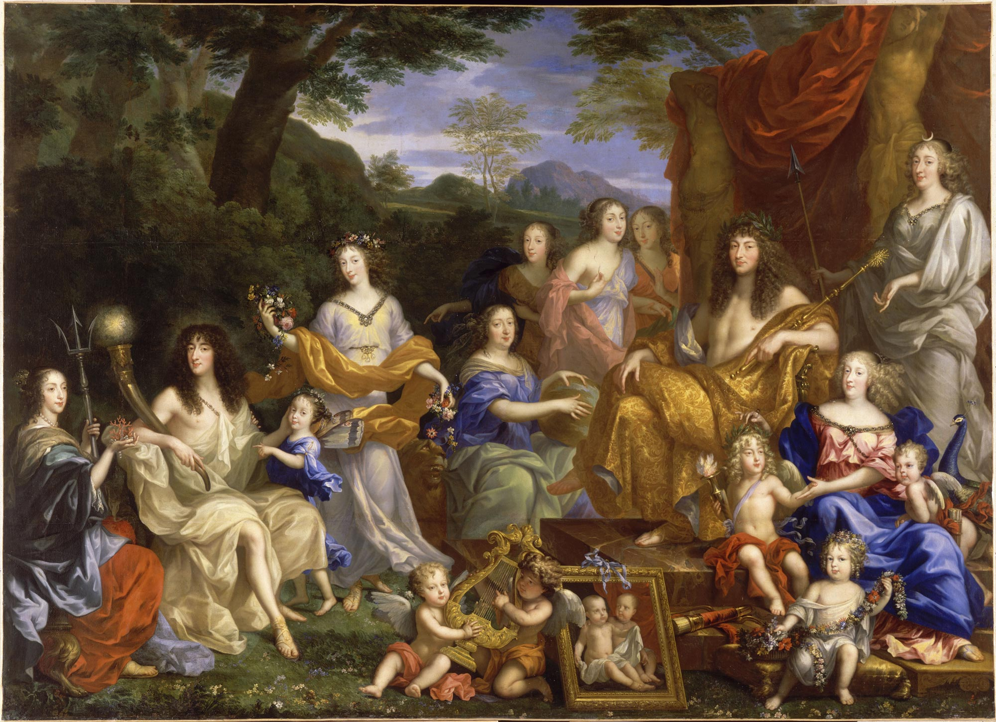The family of Louis XIV in 1670 depicted in mythological fancy dress, Jean  Nocret (